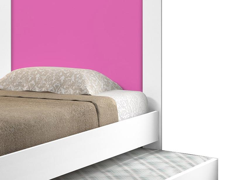 Cama Bibox Luara Branco com Rosa - Cambel Móveis