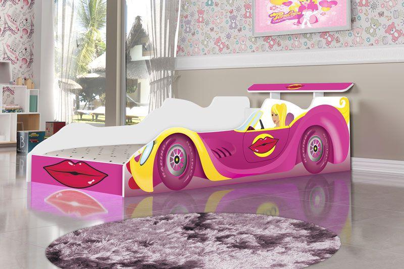 Cama Carro Blonder Infantil Rosa - JeA Móveis