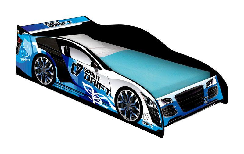 Cama Carro Drift Infantil Azul - JeA Móveis