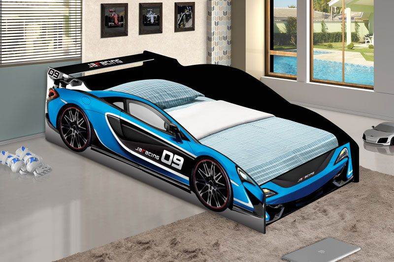 Cama Carro Force Infantil Azul - JeA Móveis