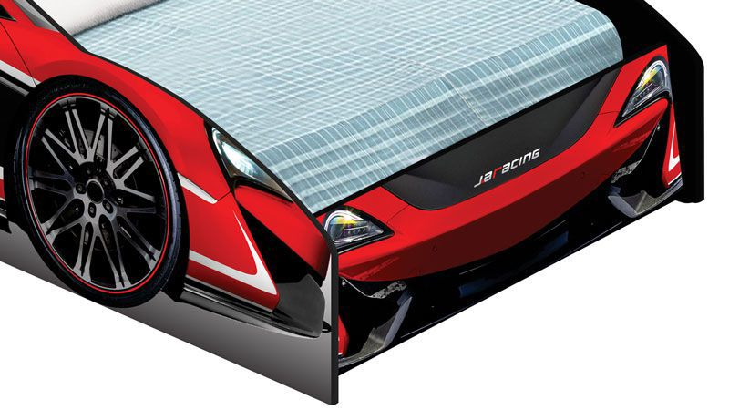 Cama Carro Force Solteiro Vermelho - JeA Móveis