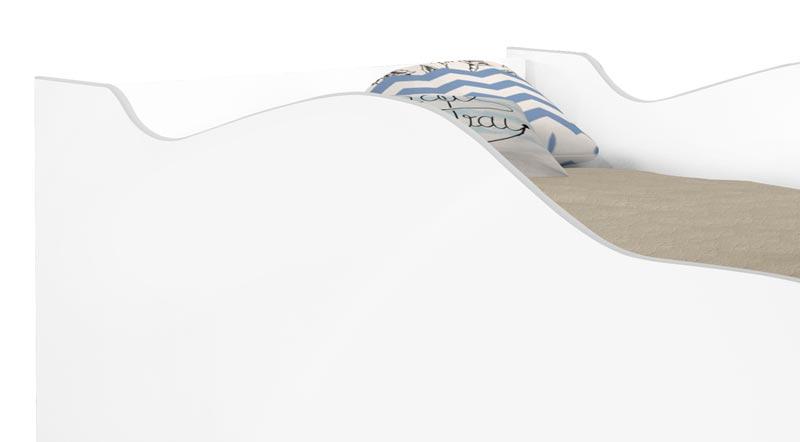 Cama Carro Infantil Cambel Branco Acetinado - Cambel Móveis