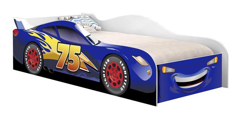 Cama Carro Infantil Corrida Azul - VJ Móveis