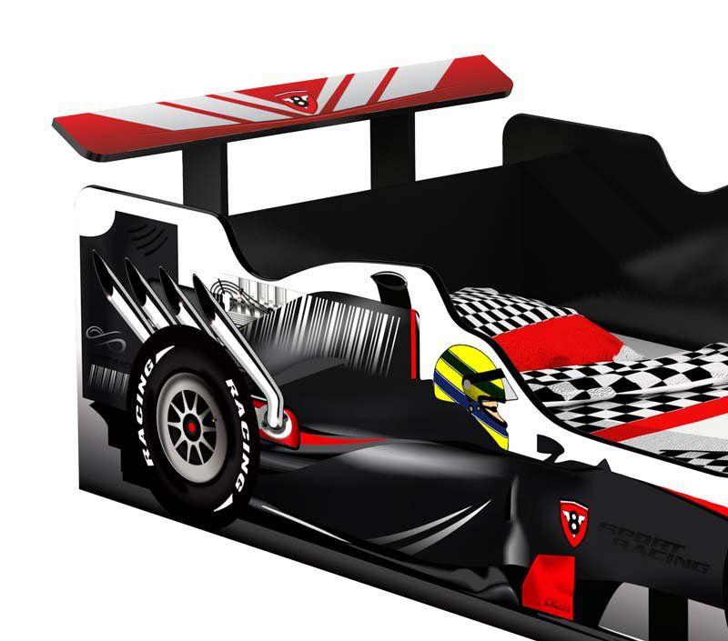 Cama Carro Fórmula 1 Infantil Preto - JeA Móveis