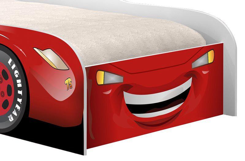 Cama Carro Solteiro Corrida Vermelho - Cambel Móveis