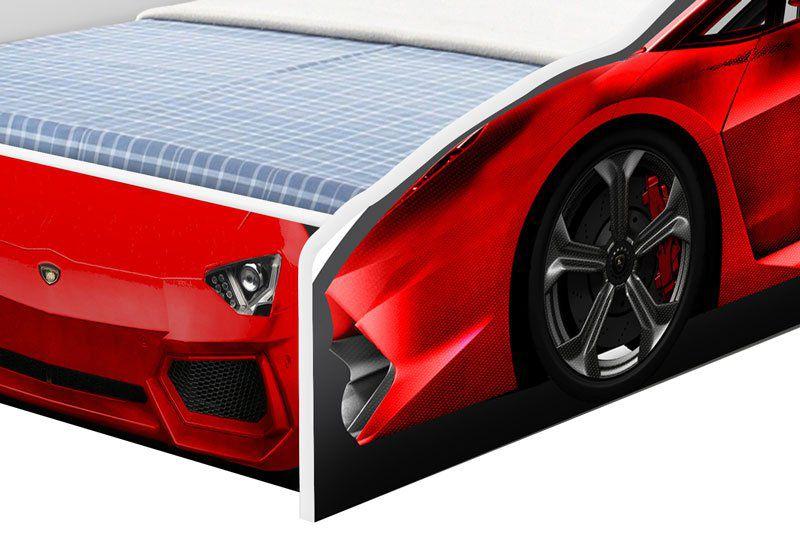 Cama Carro Solteiro Vermelho - Cambel Móveis