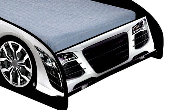 Cama Carro Speed Infantil Branco - JeA Móveis