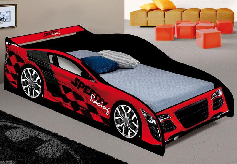 Cama Carro Speed Solteiro Vermelho - JeA Móveis