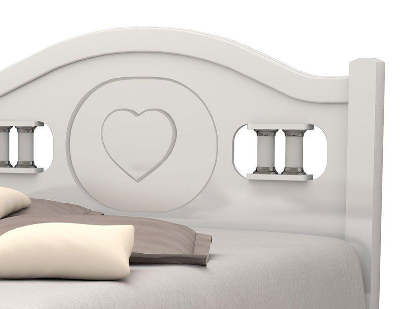 Cama de Casal Coração Branco - Vitamov