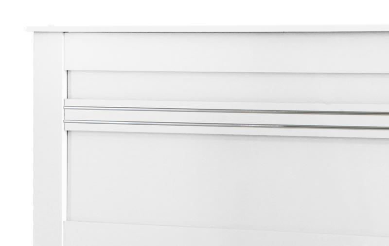 Cama de Casal Dallas II Branco - Tebarrot Móveis
