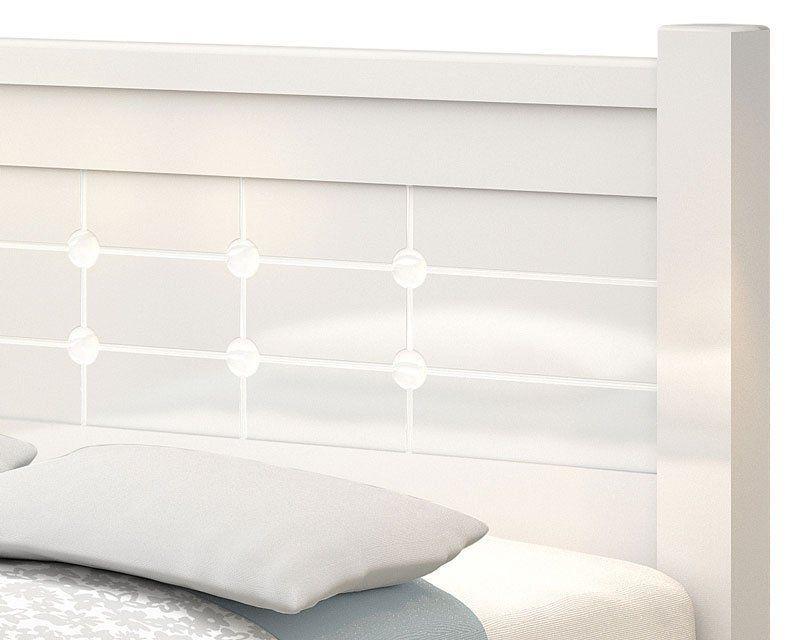Cama de Casal Queen Size 1,60 Imperial Branco - Vitamov