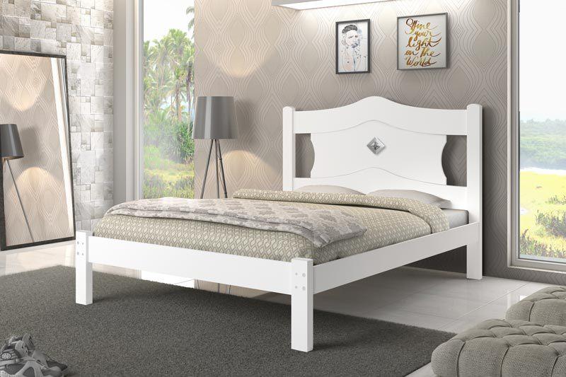 Cama de Casal Sevilha Branca - JeA Móveis