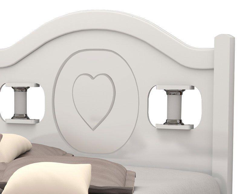 Cama de Solteiro Coração Branco - Vitamov