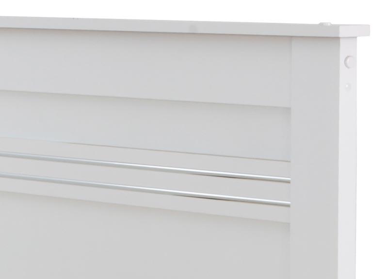 Cama de Solteiro Dallas II Branco - Tebarrot Móveis