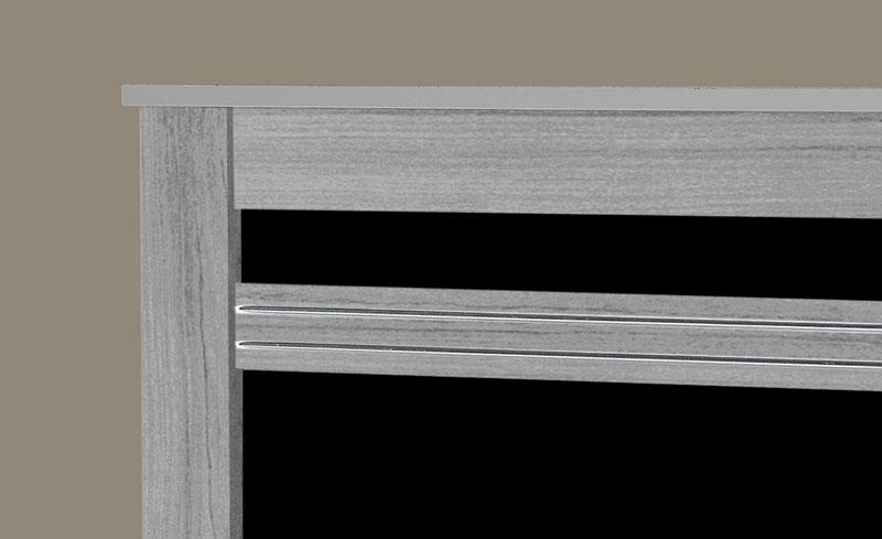 Cama de Solteiro Dallas II Cinza com Preto - Tebarrot Móveis