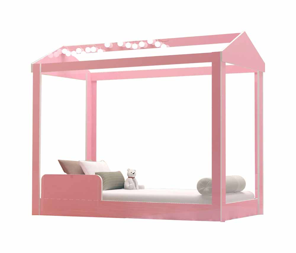 Cama Montessoriana Infantil Crystal Rosa - JeA Móveis