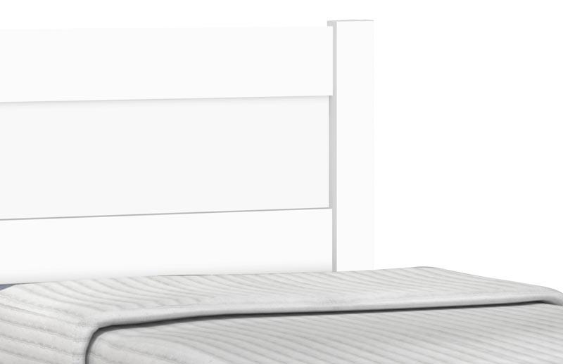 Cama Solteiro com Auxiliar Prisma Branco - JeA Móveis