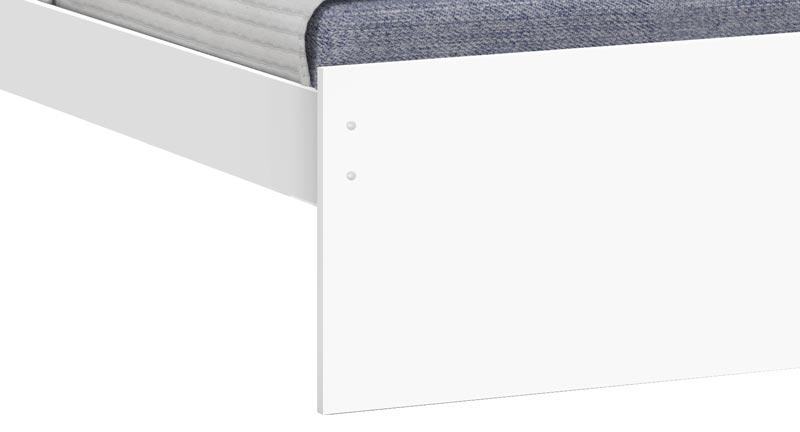 Cama Solteiro Prisma Branco com Lilás - JeA Móveis