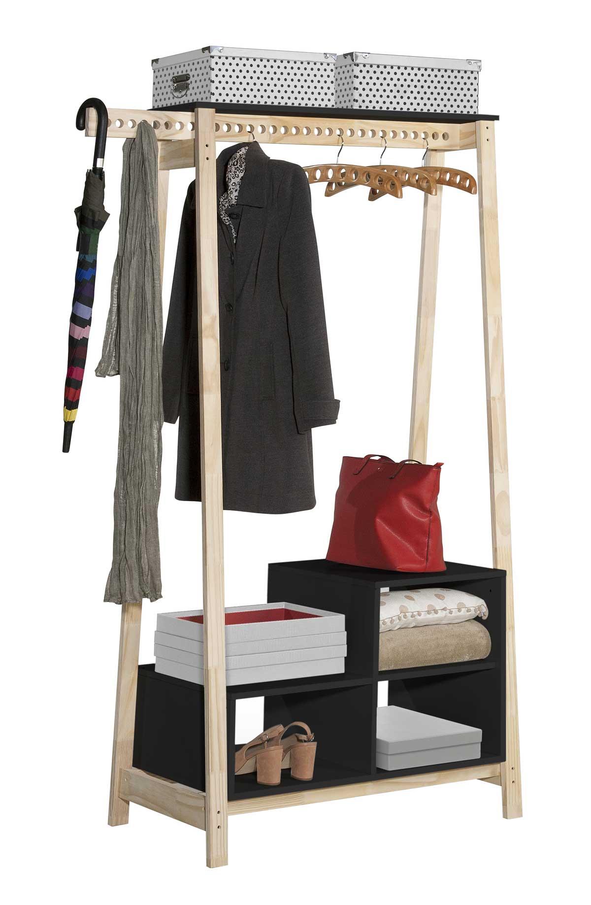 Guarda-Roupa Closet Modulado Milão com Nicho Preto - Tebarrot Móveis