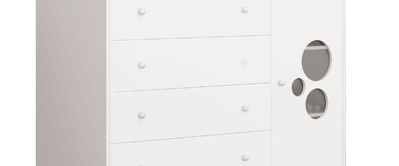 Comoda Baby Branco Brilho - Imaza Móveis
