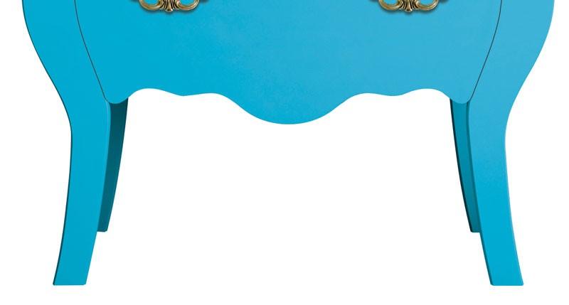 Comoda Bombe Charlotte Azul Tifany - Imaza Móveis  - MoveisAqui - Loja de móveis online!