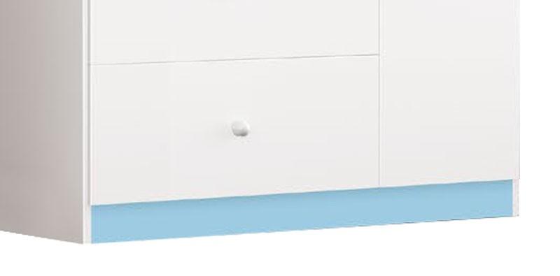 Comoda Encanto com Sapateira Branco com Azul - Imaza Moveis