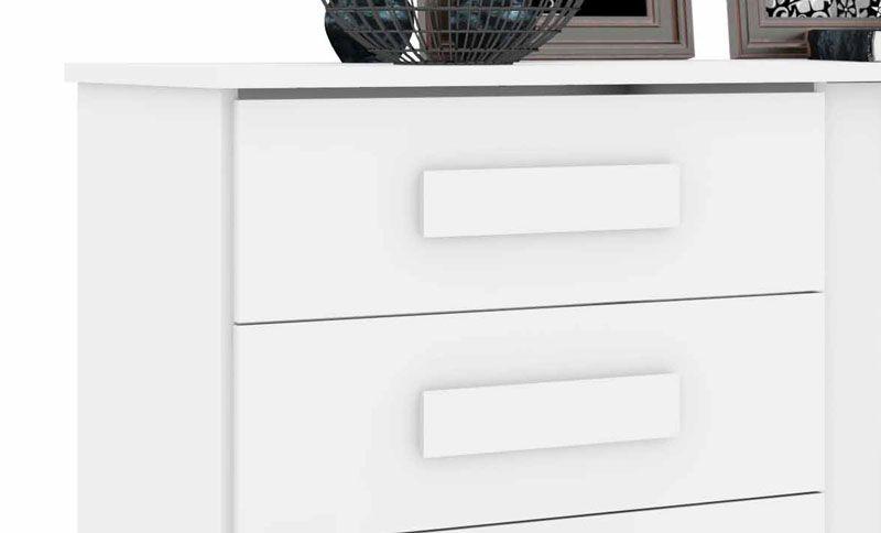Comoda Geórgia Branco - RV Móveis