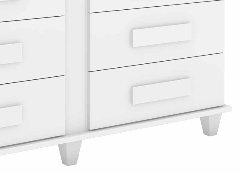 Comoda Georgia Branco - Rv Móveis  - MoveisAqui - Loja de móveis online!