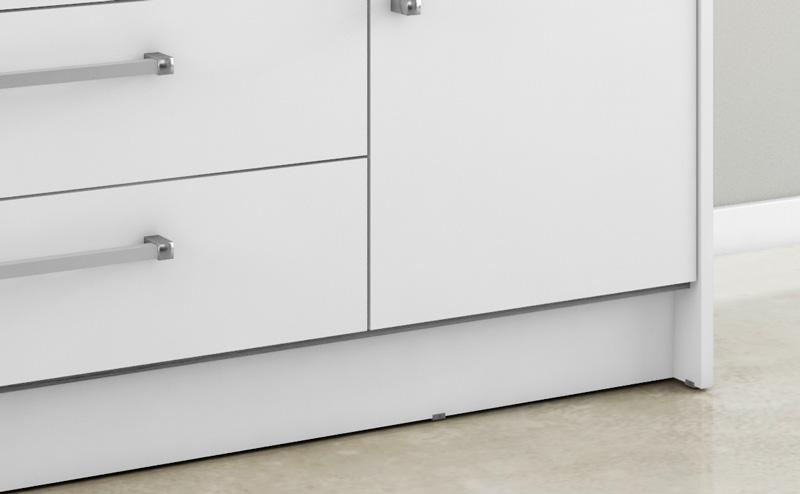 Comoda Juliana III 1 Porta 5 Gavetas Branco - Móveis Bechara  - MoveisAqui - Loja de móveis online!