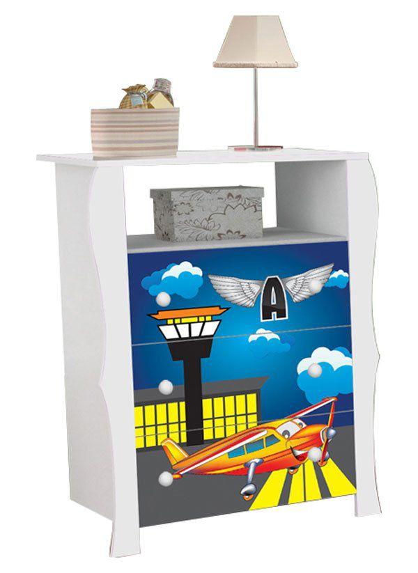 Comoda Lara Avião - JeA Móveis