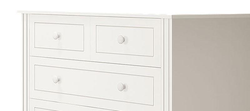 Comoda Laura Branco Fosco - Imaza Móveis  - MoveisAqui - Loja de móveis online!