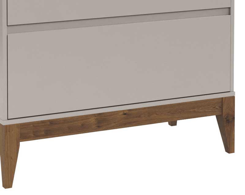 Cômoda Nature Clean Cinza com Eco Wood - Matic Móveis