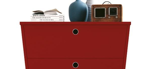 Comoda Prada Vermelha - Edn Móveis