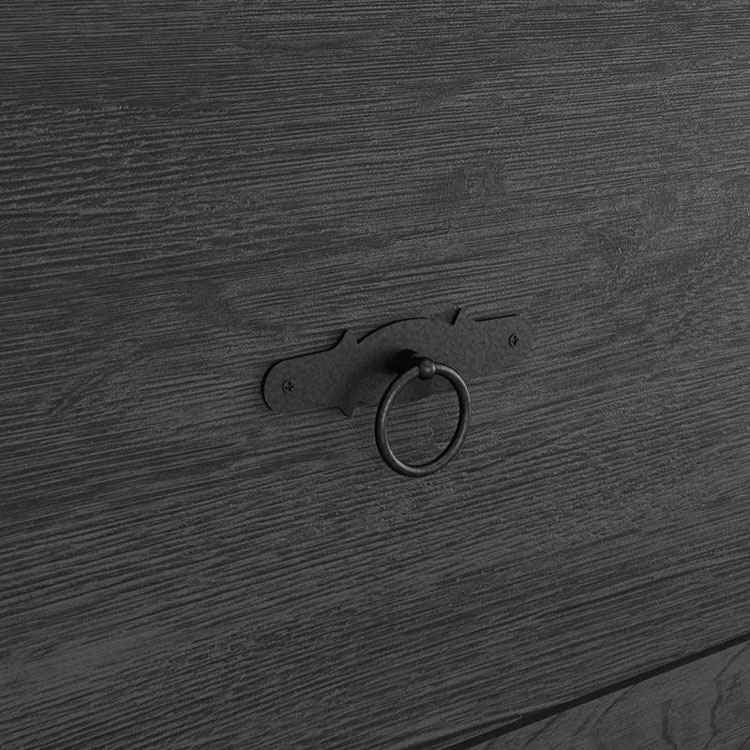 Comoda Retro com Sapateira Imperio Nogal Rustico - Edn Moveis