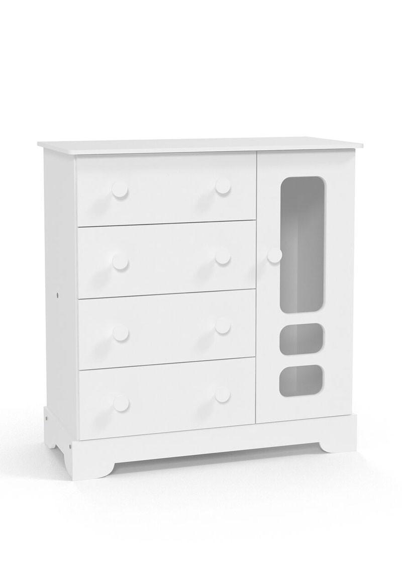 Comoda Smart Branco Brilho - Matic Móveis  - MoveisAqui - Loja de móveis online!