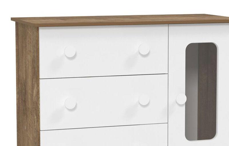 Comoda Smart Branco Fosco com Teka - Matic Móveis  - MoveisAqui - Loja de móveis online!