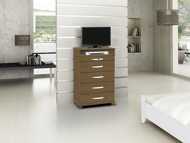 Comoda Suprema Amendoa - Moveis Primus  - MoveisAqui - Loja de móveis online!