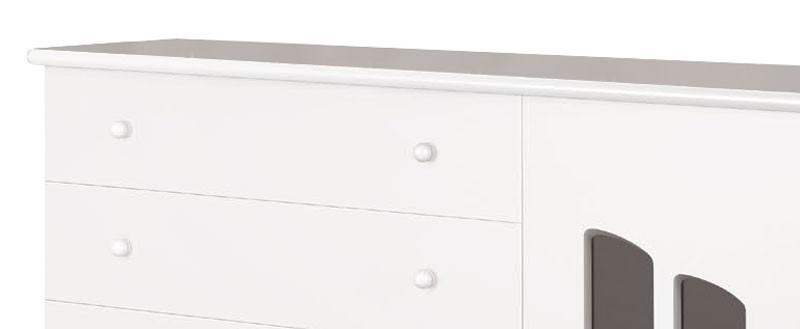Comoda Theo Branco Brilho - Imaza Moveis