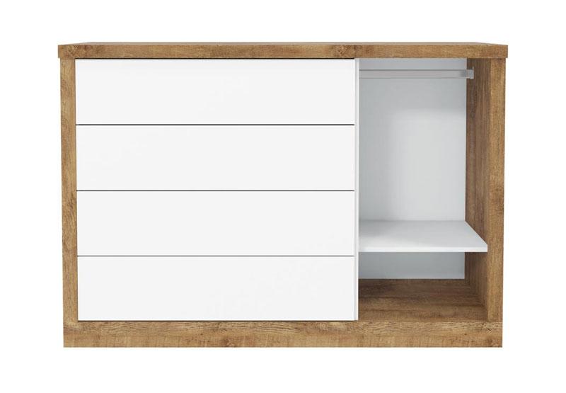 Comoda Tutto New Toque Branco Fosco com Teka - Matic Móveis