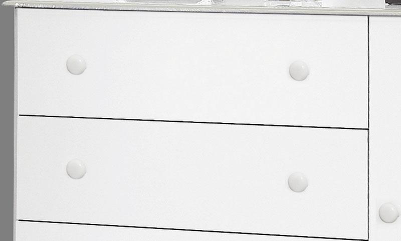 Comoda Veneza Branco - Móveis Primus