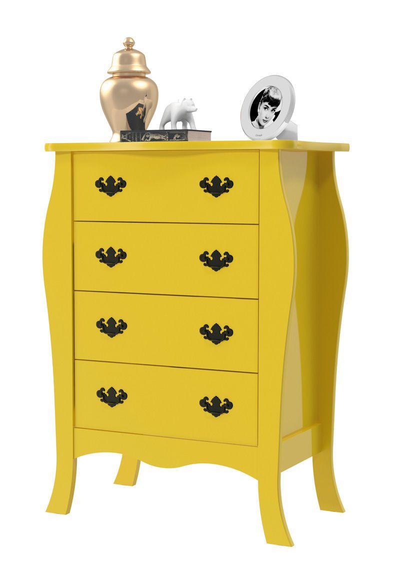 Cômoda Vitoria Amarelo - Patrimar Móveis