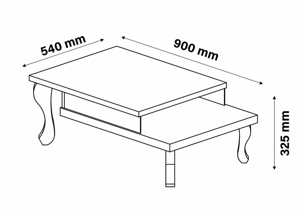 Conjunto Mesa de Centro Mesa Lateral Luminos Off White - Patrimar Móveis