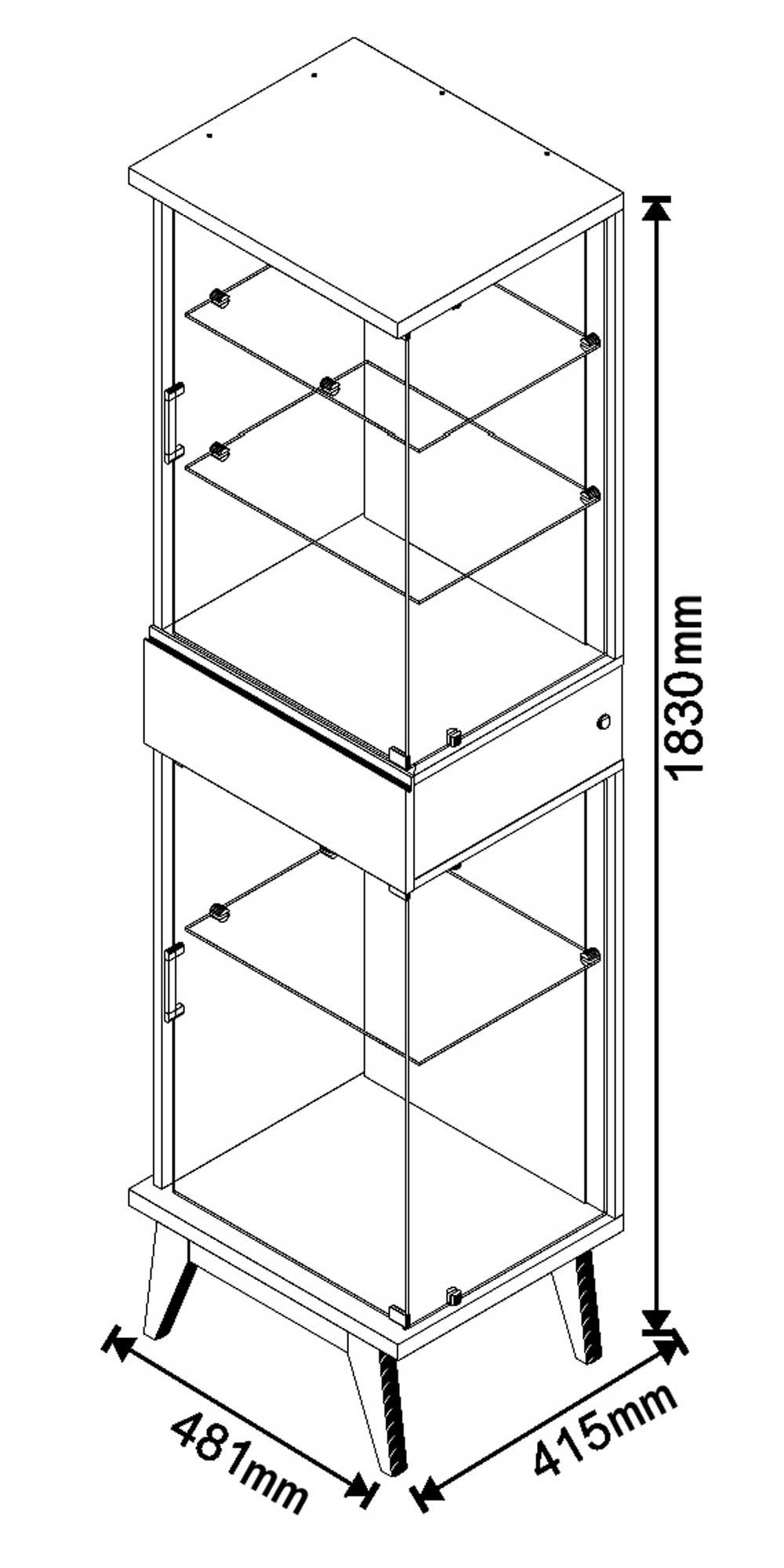 Conjunto Sala de Estar Buffet + Aparador + Cristaleira Nuance - Imcal Móveis