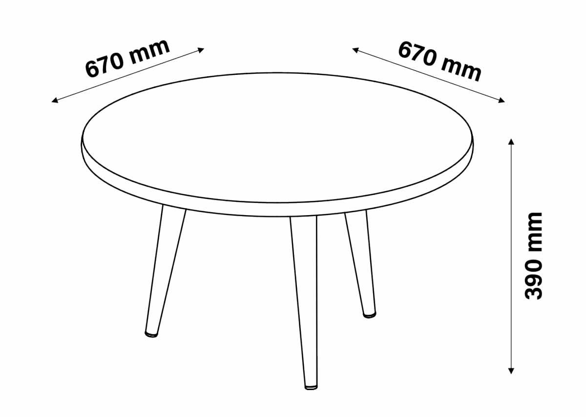 Conjunto Sala de Estar Legs Mesa de Centro Mesa Lateral Mesa de Apoio Terracota - Patrimar Móveis