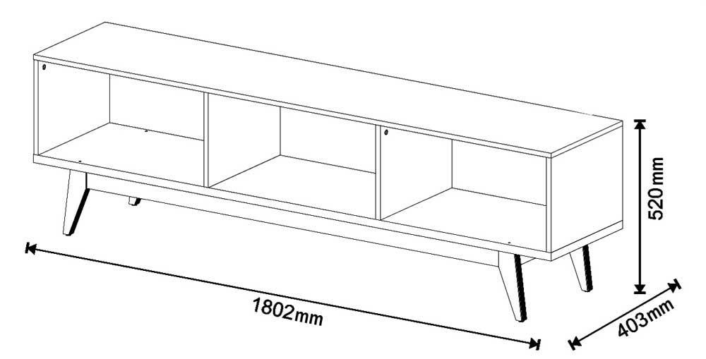 Conjunto Sala de Estar Rack 1.8 + Buffet Preto - Imcal Móveis
