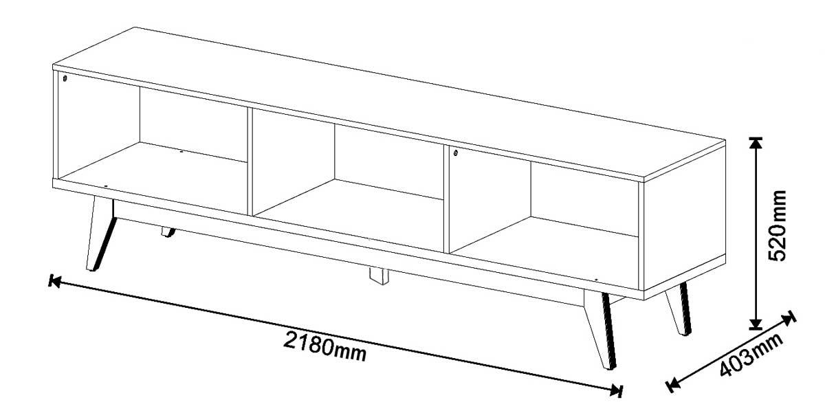 Conjunto Sala de Estar Rack 2G 2.2 + Aparador - Imcal Móveis