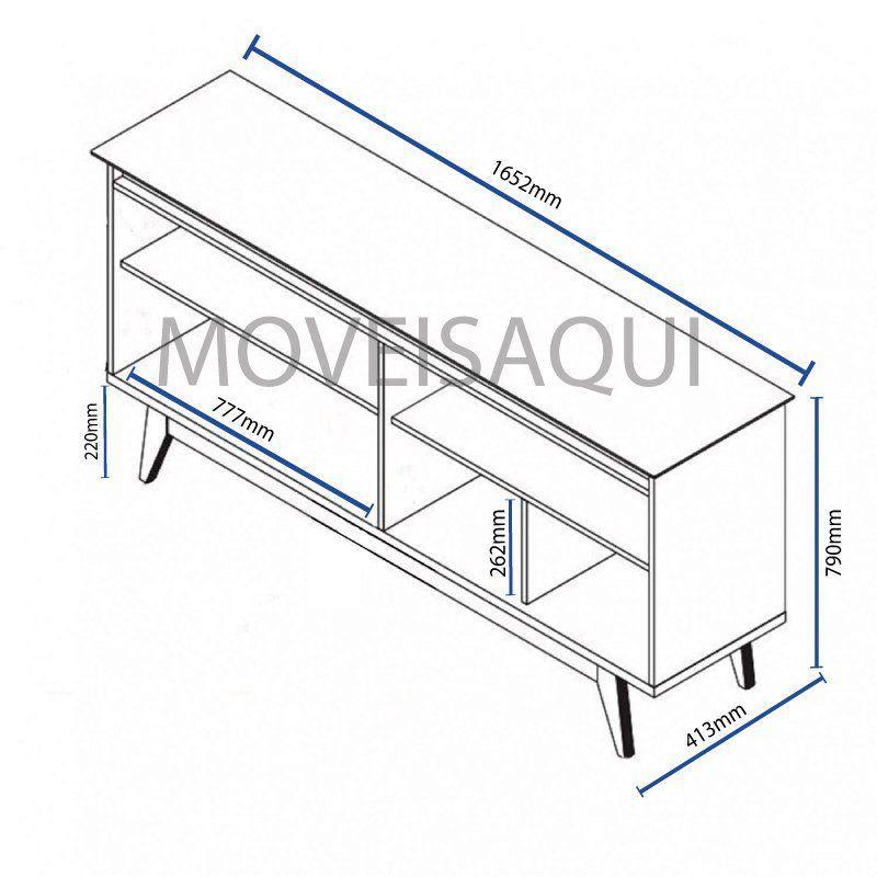 Conjunto Sala de Estar Rack com Painel 1.8 + Buffet + Aparador - Imcal Móveis