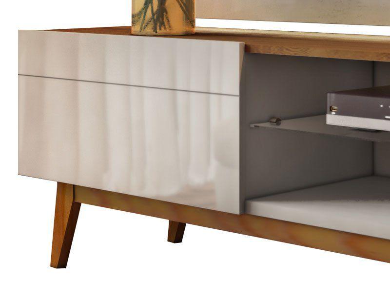 Conjunto Sala de Estar Rack com Painel 1.8 + Buffet Espelhado + Aparador - Imcal Móveis