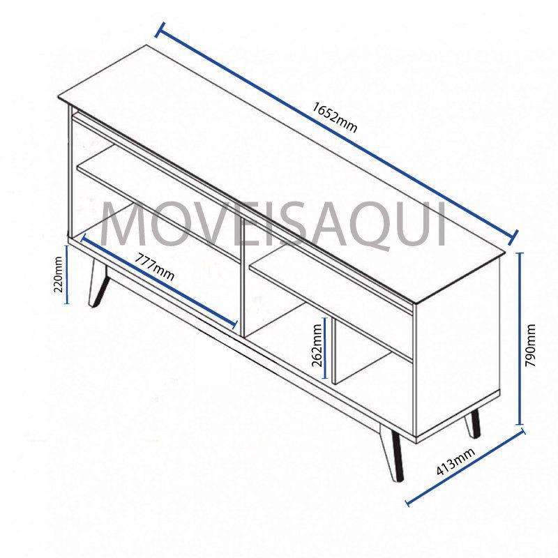 Conjunto Sala de Estar Rack com Painel 1.8 + Buffet Off White com Freijó - Imcal Móveis