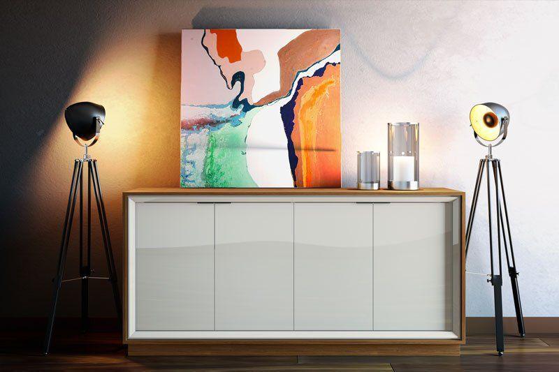 Conjunto Sala de Estar Rack com Painel Ópera 2.2 + Buffet Ópera Off White com Freijpó - Imcal Móveis
